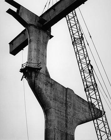 Pier, Fremont Bridge, Portland, 1971