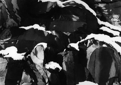 Snow On Rock Wall, The Dalles, 1970